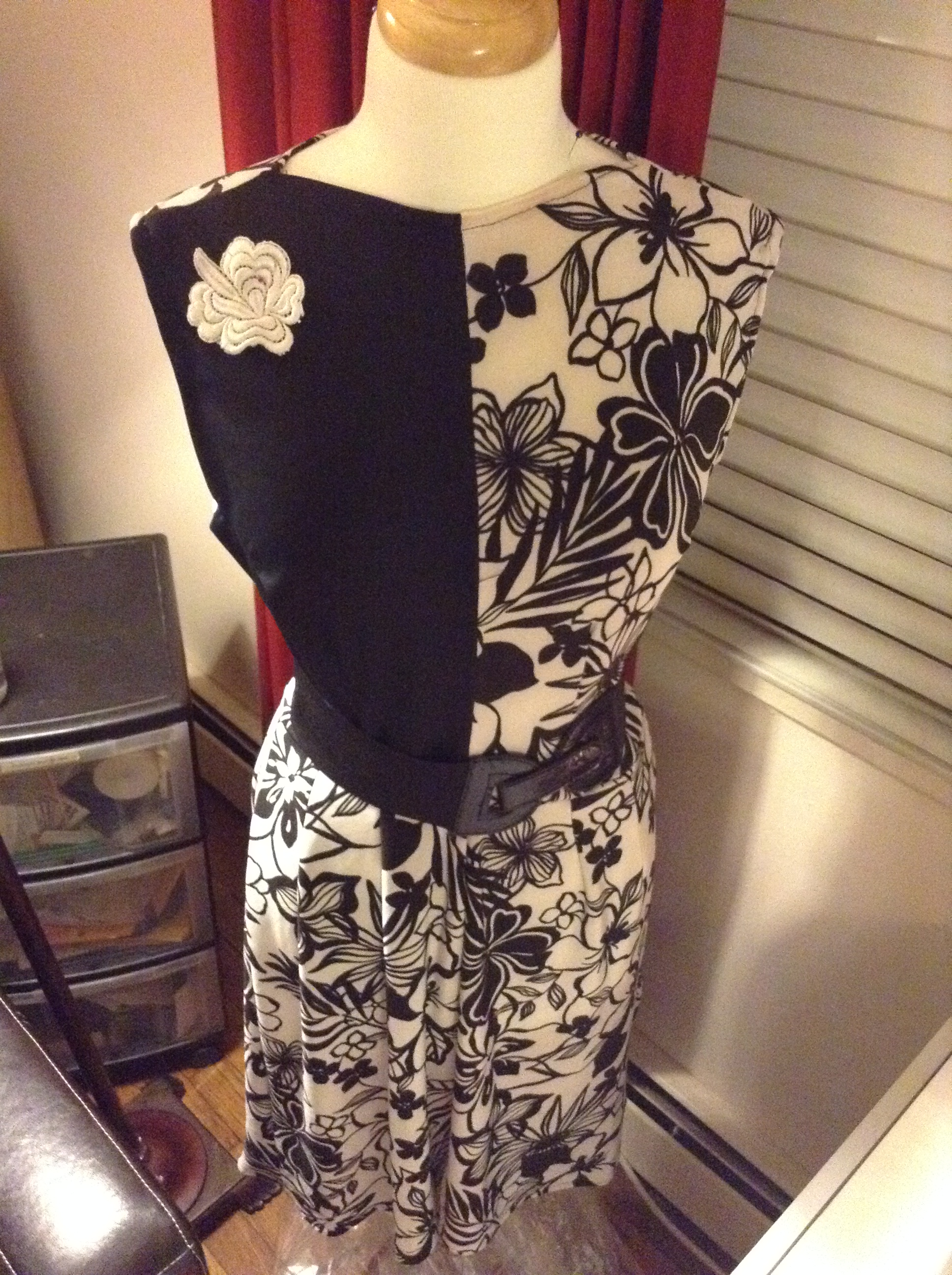 Black & White Color Block Dress