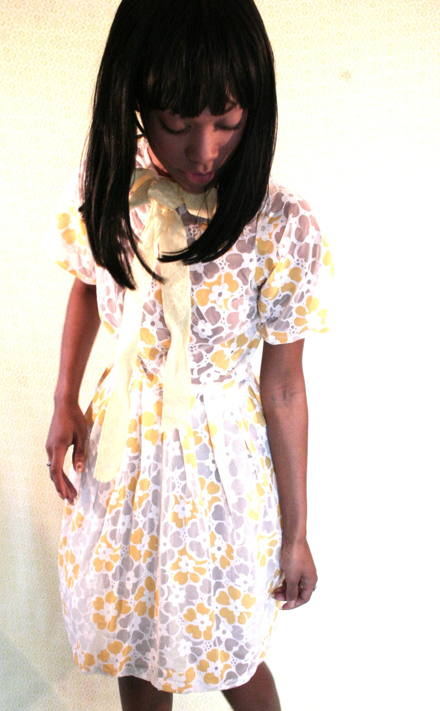 Sunshine Yellow Flower Dress