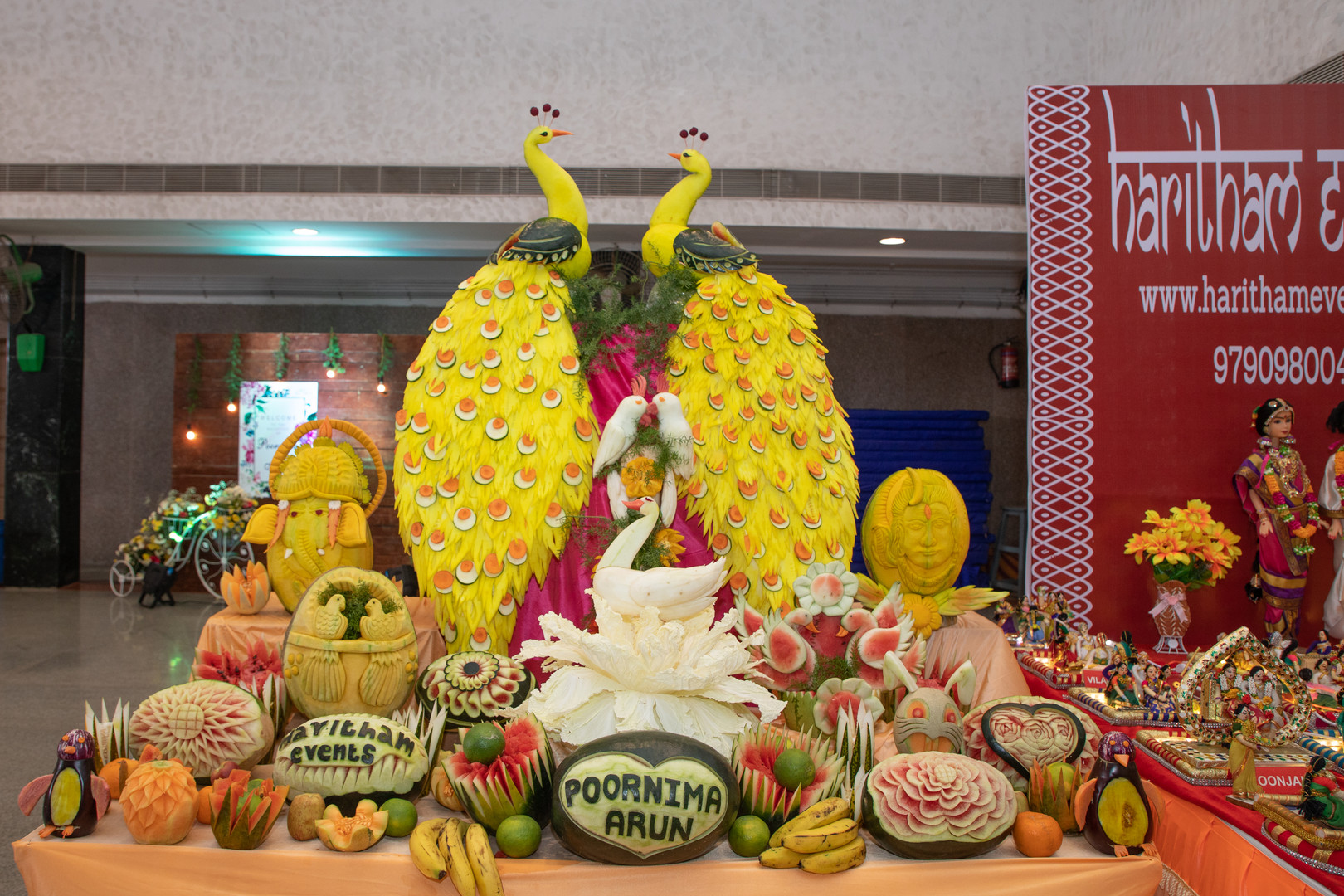 Vegetable carving for wedding