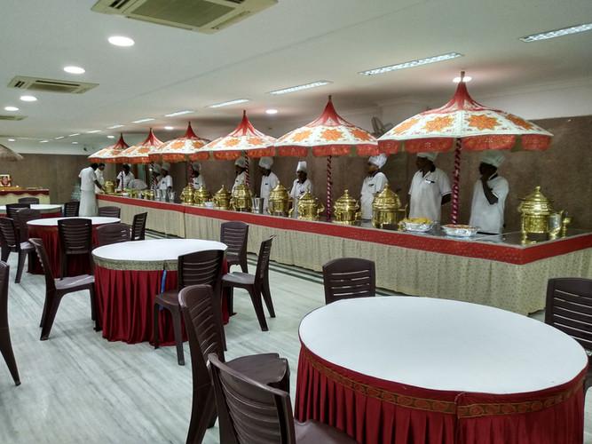 Buffet dinner for wedding
