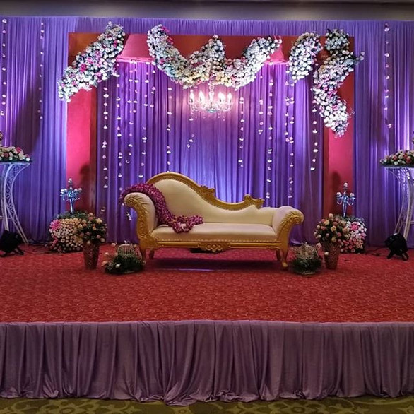 Wedding Reception Decor with props all around