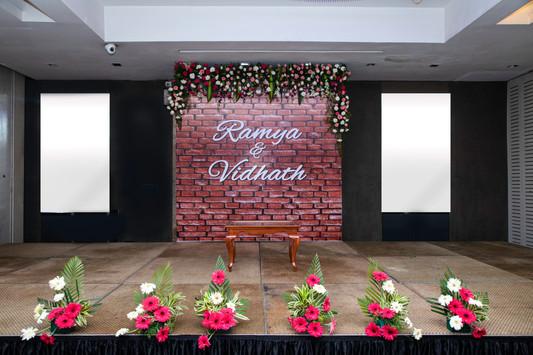 Wedding Reception Back drop