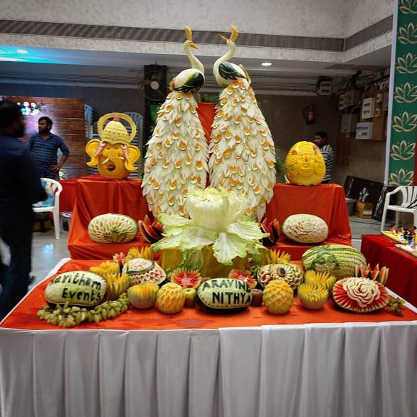 Vegetable Carving Display