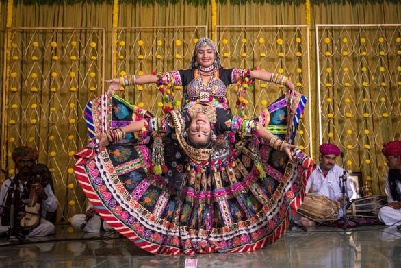 Rajasthani Artistes performing at a Wedding Sangeet