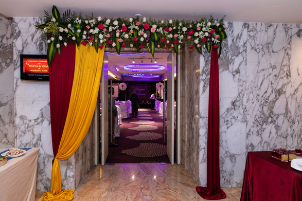 Wedding Hall Entrance Decor