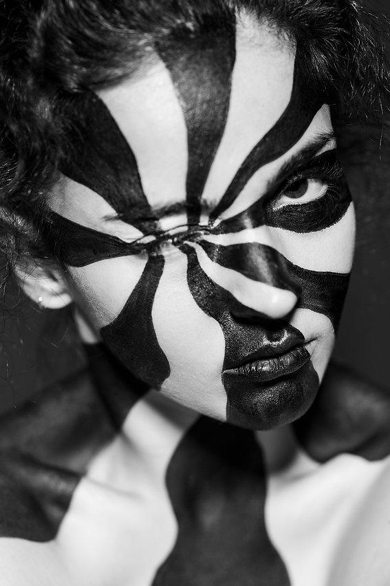 pinwheel makeup look, creative makeup artist