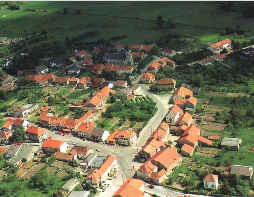 vue aérienne - centre village