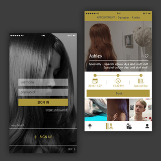 Hair Salon App UI Design