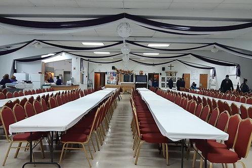 Reservación de sala de recepción - réservation salle de réception