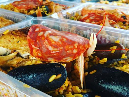 Une paella sur le marché central de La Rochelle