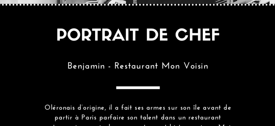 Sebastien, chef - Restaurant MonVoisin