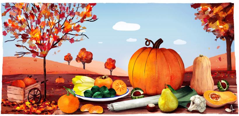 Les fruits et légumes de novembre