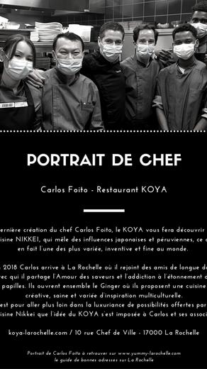 Carlos Foito, chef au Restaurant Le KOYA