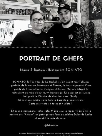 Maria et Bastien, en cuisine chez BONIATO