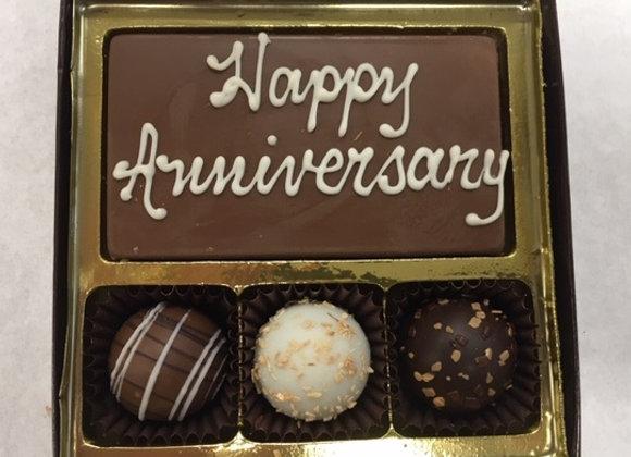 Happy Anniversary Bar & Swiss Style Truffles