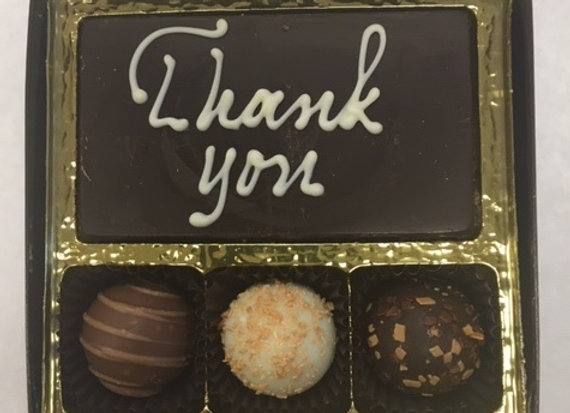 Thank You Bar and Swiss Style Truffles