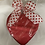 Thumbnail: 1 lb.Elite Creams & Clusters Heart Box - Leather Cover
