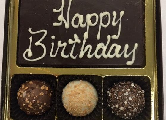 Happy Birthday Bar & Swiss Style Truffles