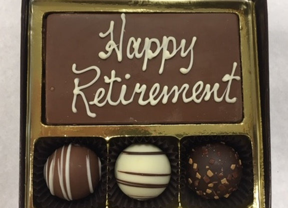 Happy Retirement Bar & Swiss Style Truffles