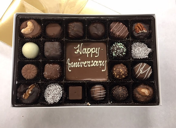 """Happy Anniversary"" Elite with Chocolate Bar"