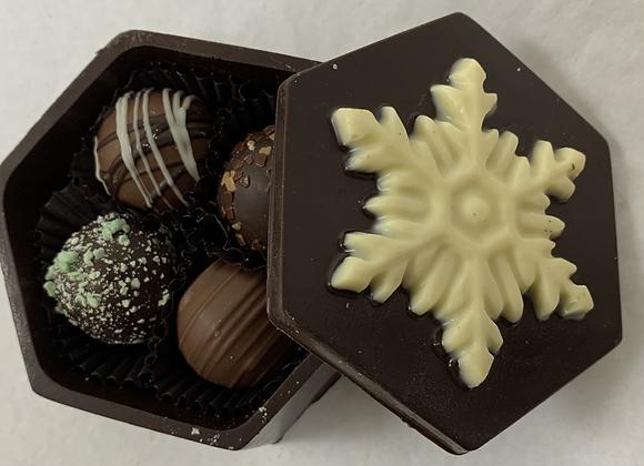 Small Snowflake Chocolate Box