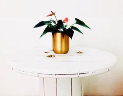 Holzmöbel - Holzhocker, Holztisch