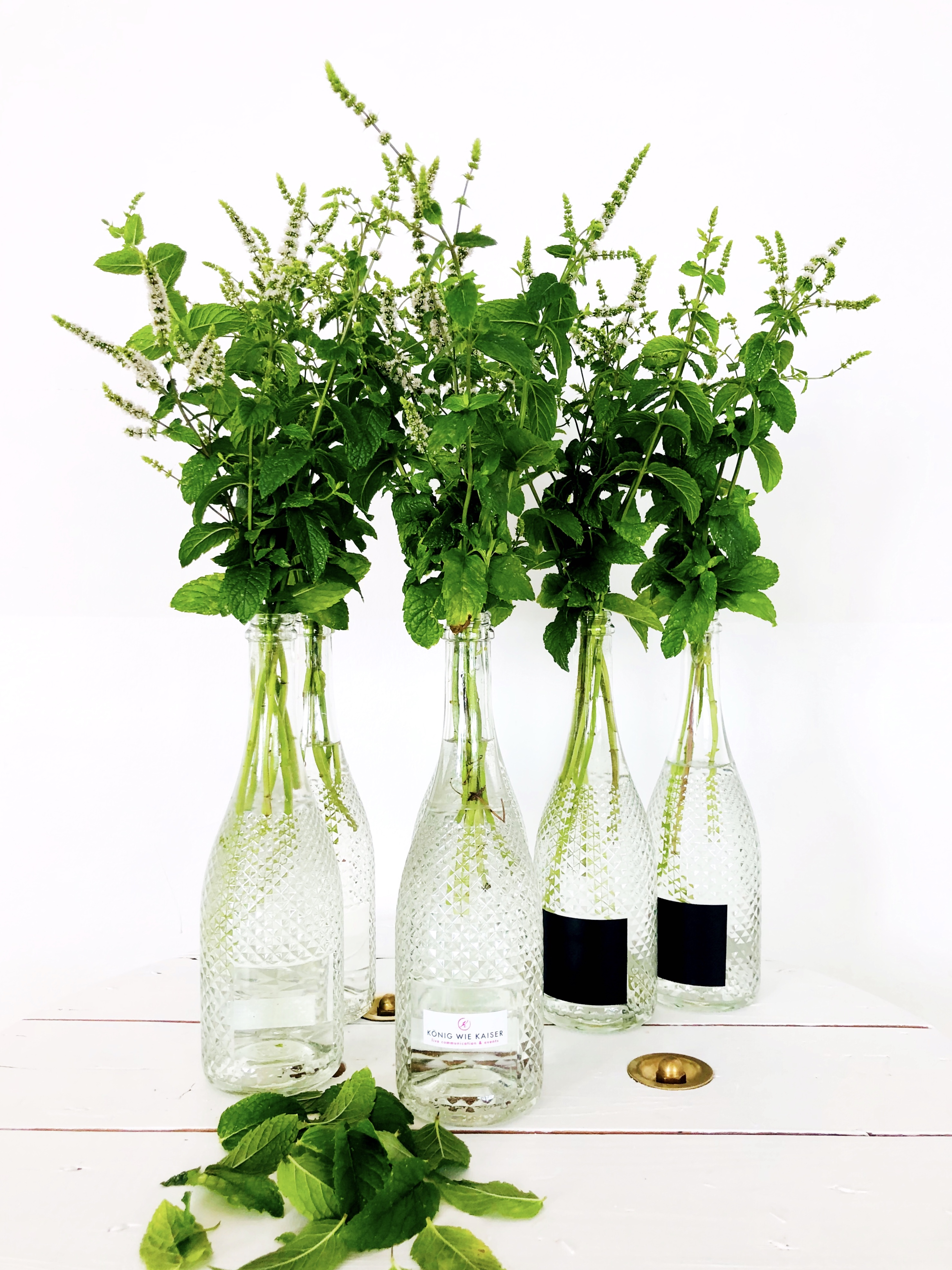 Flaschenvase klar