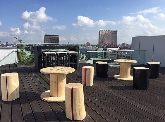 Holzmöbel Sitzgruppe