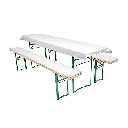 Tischtuch und Bankpolster Set