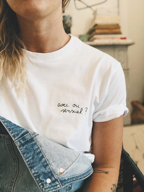 T-shirt «avec ou sensuel?»