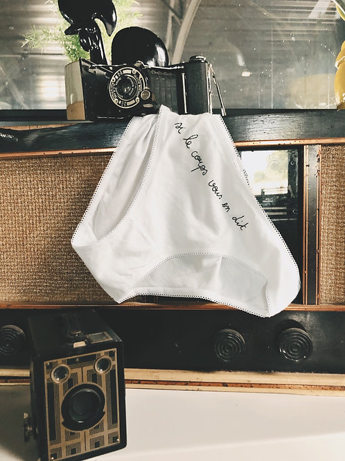 Culotte «si le corps vous en dit»
