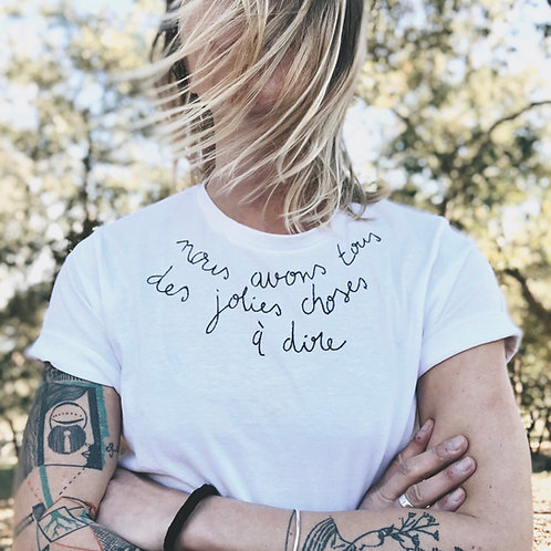 T-shirt Nous avons tous des choses à dire
