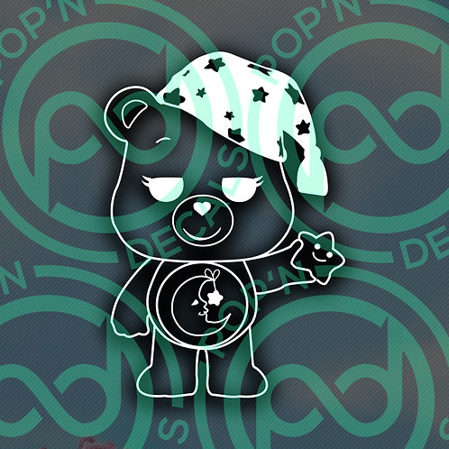 Good Night Bear Decal