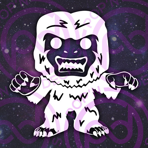 Snowy Abominable Snowman Decal