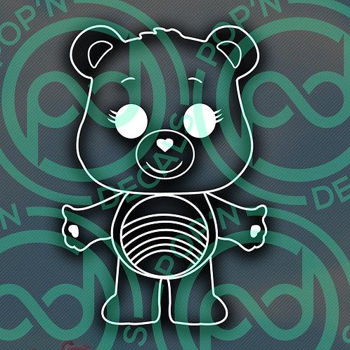 Rainbow Bear Decal