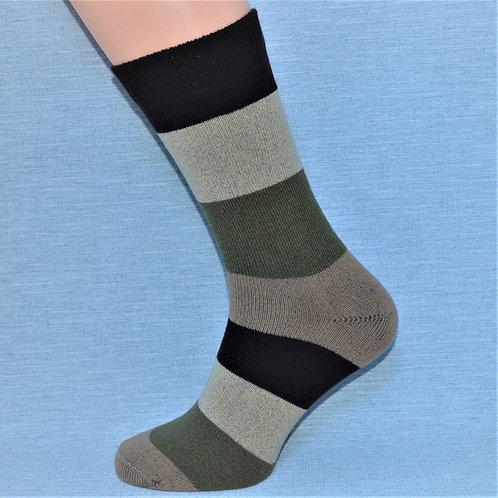 Cashmere Block Sock - Chocolate