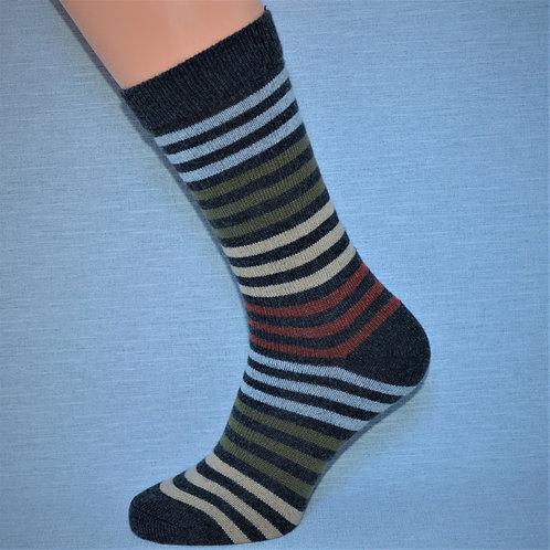 Cashmere Multi-Stripe - Charcoal
