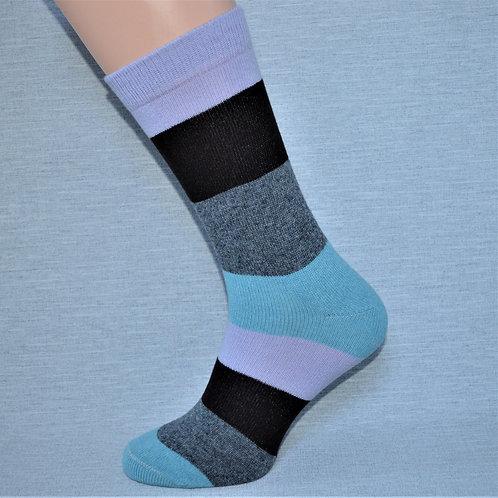 Cashmere Block Sock - Lilac