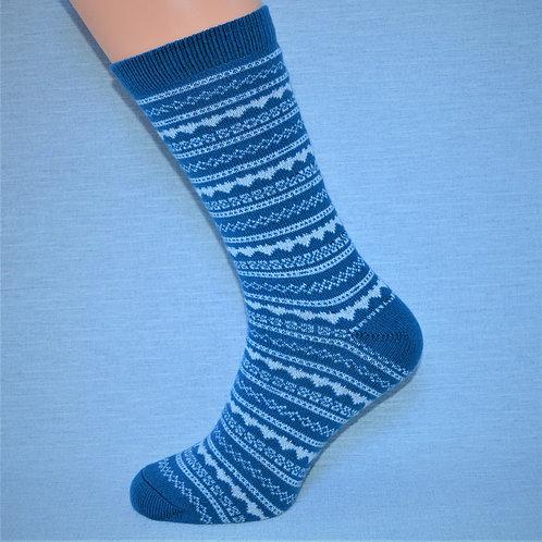 Cashmere Fair Isle - Wedgewood Blue