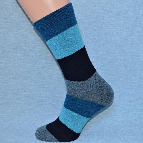 Cashmere Block Sock - Petrol
