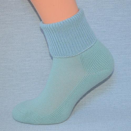 Cashmere Lounge Sock - Teal/Powder Blue