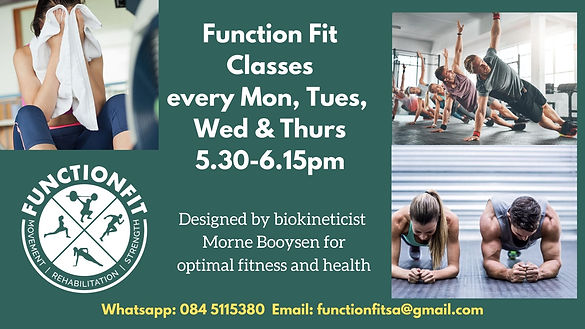 Function Fit Classes every Mon, Tues, We