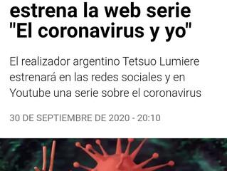 "Tetsuo Lumiere estrena la web serie ""El coronavirus y yo"""