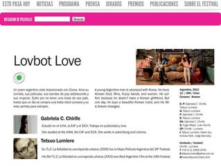 LOVBOT LOVE - En el Festival de Cine de Mar del Plata.
