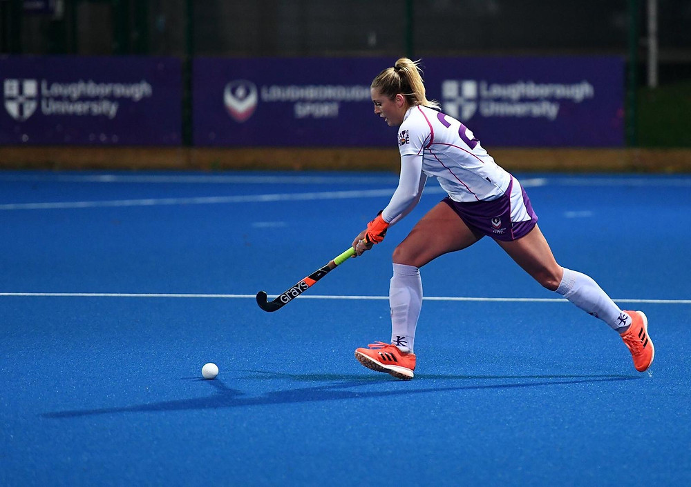 Playing hockey at Loughborough University.