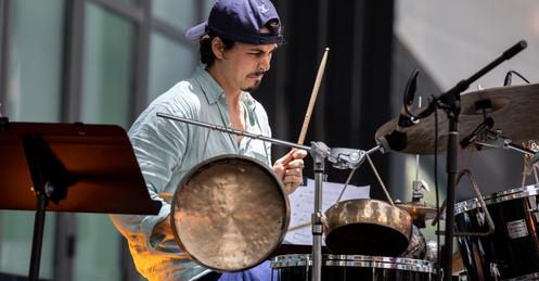 Composer and percussionist Vicente Hansen Atria