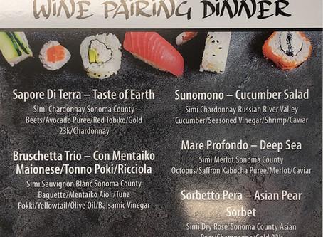 Wine Pairing Dinner - Kuka x Simi Winery