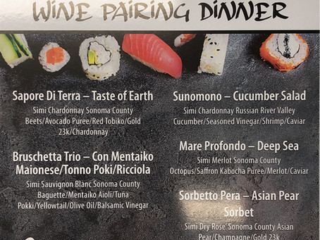 Wine Pairing Dinner - Kuka x Simi Winery