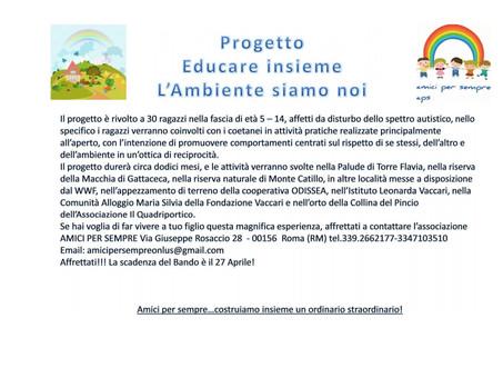 """PROGETTO EDUCARE INSIEME L""""AMBIENTE SIAMO NOI..."""