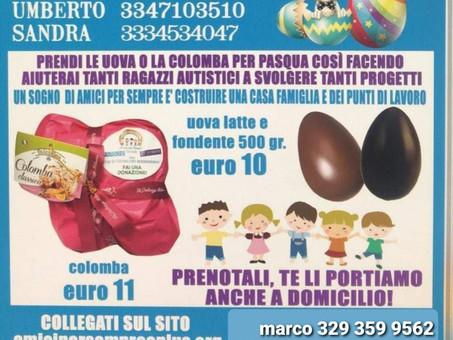 Raccolta fondi 2021 Uova di cioccolato e colombe.
